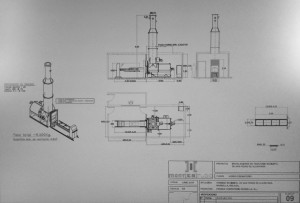 Plano del horno crematorio contenido en el proyecto